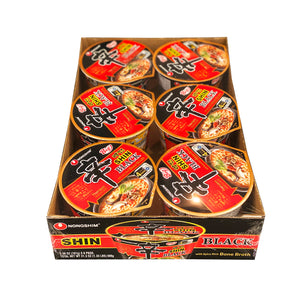 Nongshim Shin Ramyun Black BIG Bowl Premium Noodle Soup 3.56oz(101g) X 6 Packs