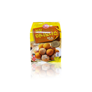 Ottogi Korean Mini Chewy Donut Mix (8.5oz Batter Mix + 0.4oz Topping Mix) x 2