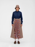 RANIA Midi Pleated Skirt
