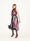 MARTHA silk lurex dress