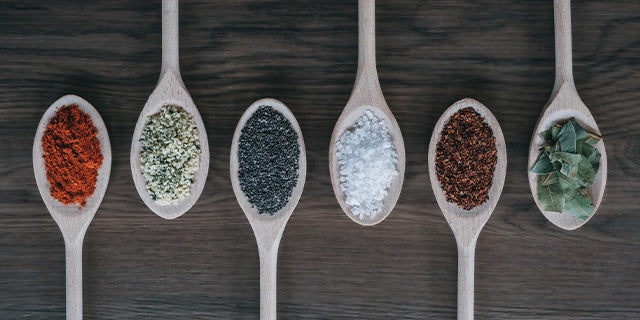 freyian glass canisters pre-mix ingredients and spices