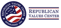 Logo for the Republican Values Center established in 1854 with the founding of the Republican Party.