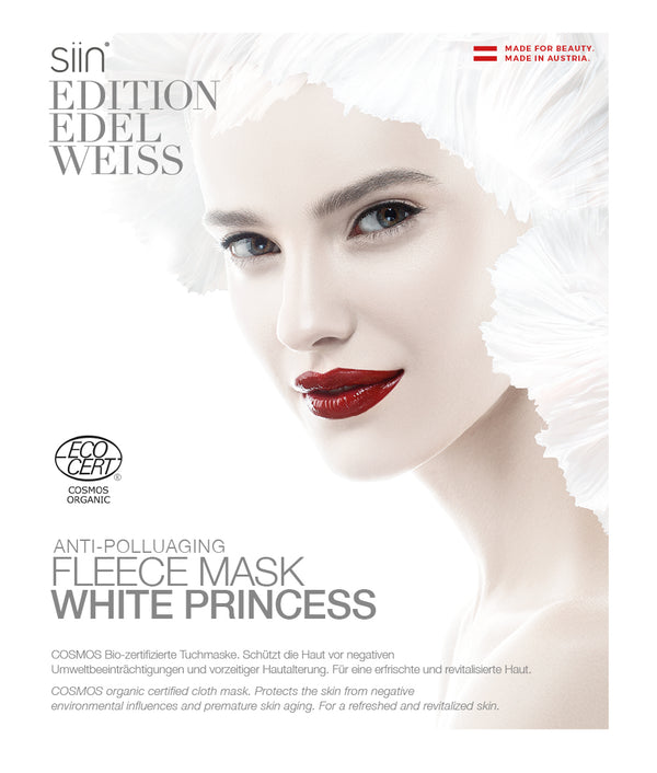 "Anti-Pollution fleece face mask ""White Princess"", 1 pc."