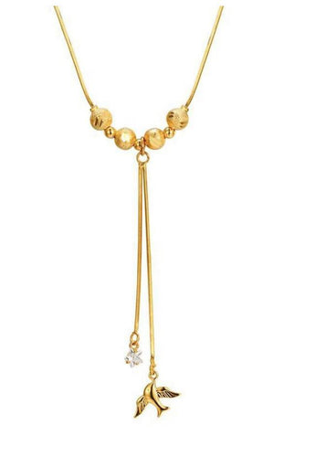 24K Gold Plated Dove Necklace - Pipikini