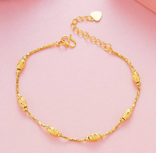 24K Gold Twisted Bracelet - Pipikini