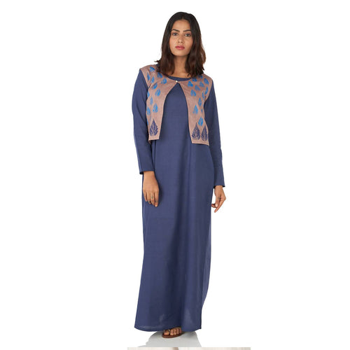 A line maxi dress with jacket Regular - Pipikini