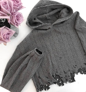 Distressed Knit Sweater - Pipikini