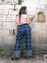 Load image into Gallery viewer, Indigo White Handwoven Organic Cotton boho Pant - Pipikini