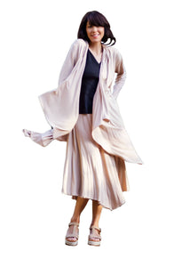 L4006 LIGHTCO Cotton Bamboo Coat with Pockets ( Cafe Latte) -