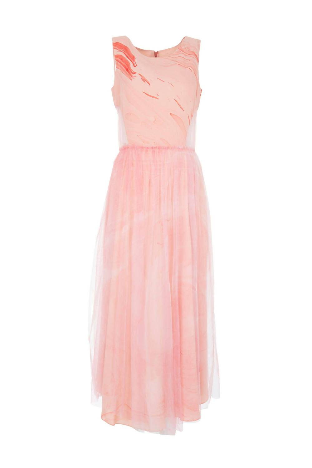 Layered Silk Dress in Pastel Pink - Pipikini
