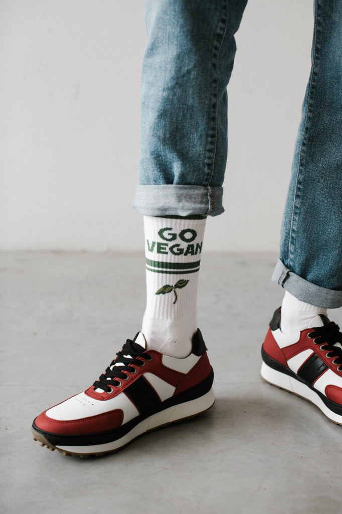 vegan sneakers ethically made red and black