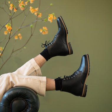 Men's vegan boots brands to shop online, made from vegan leather