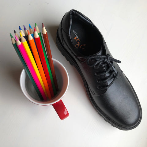 Vegan School Shoes - classic vegan oxford - unisex style