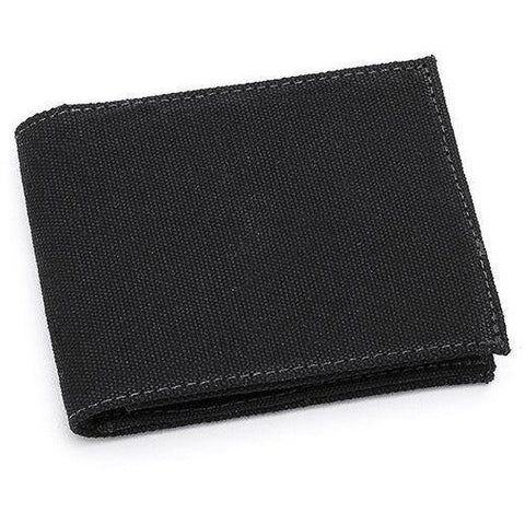 Zipped wallet in Black Canvas by Ahimsa