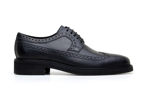 'Longwing' classic brogue in high-quality vegan leather by Brave Gentleman - black