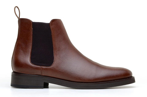 'Lover' classic chelsea boot in high-quality vegan leather by Brave Gentleman - cognac