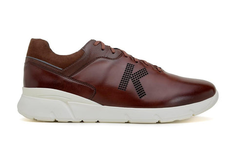 'Jogger' matte cognac vegan lace-up sneaker by King55