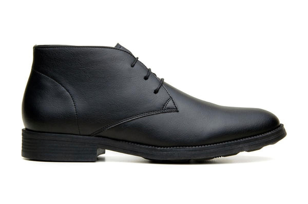 Classic vegan leather Chukka by Vincente Verde -  black
