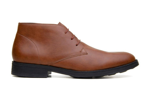 Classic vegan leather Chukka by Vincente Verde -  cognac