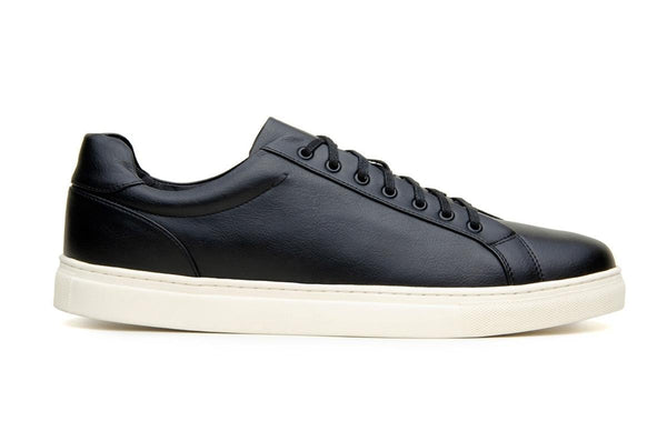 Classic vegan leather sneaker by Vincente Verde -  black - Vegan Style