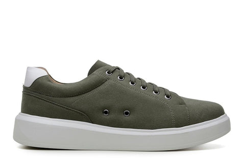 'Milano' vegan leather sneaker by Vincente Verde -  dark olive