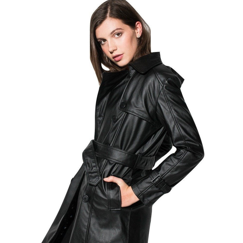 James&Co 'Irene' vegan leather jacket - black