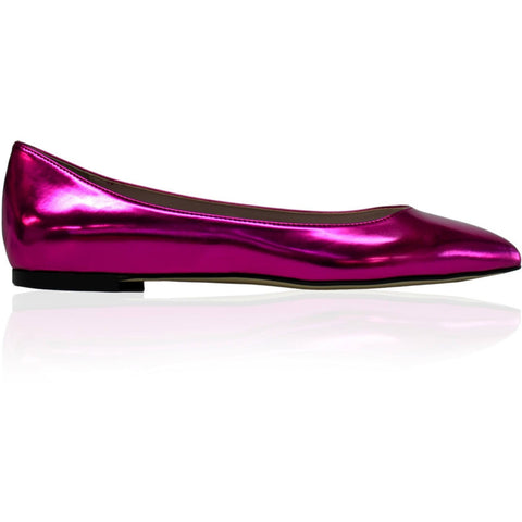 'Nina' Ballet Flats (Fuschia) by Zette Shoes - Vegan Style
