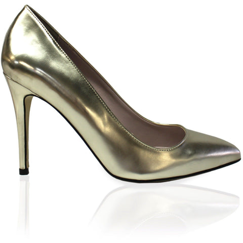 'Zari' High-Heels (Platinum) by Zette Shoes - Vegan Style