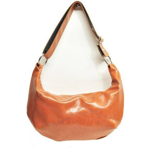 Butterscotch Medium Topstitch Hobo Bag by Crystalyn Kae