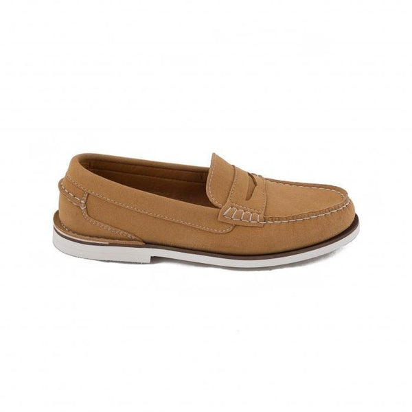 'Lima' vegan boat shoe for women by NAE - pale tan