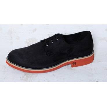 'Aponi' Shoes (Black Suede) by Good Guys - Vegan Style