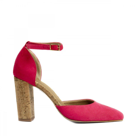 'Bella' women's vegan high heels d'Orsay by NAE - pink