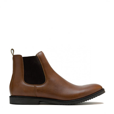 'Mesa' men's vegan chelsea boot by NAE - brown