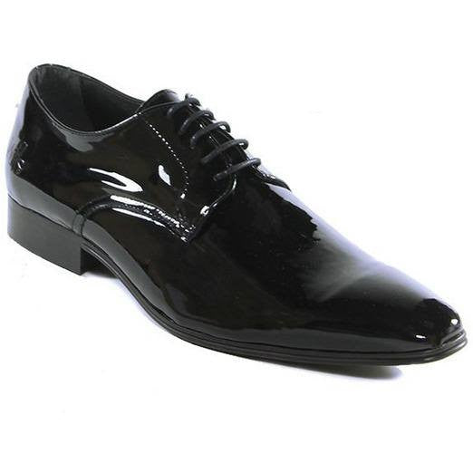 Will's London - high-shine - vegan slim-sole smart shoes - oxfords - (black) - Vegan Style