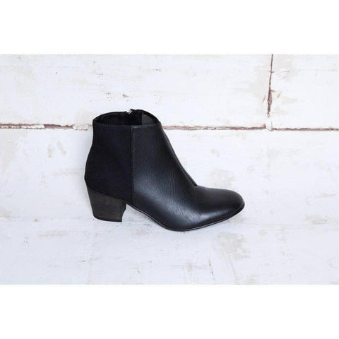 Nina (black) low-heeled ankle booty, Good Guys don't wear Leather - Vegan Style
