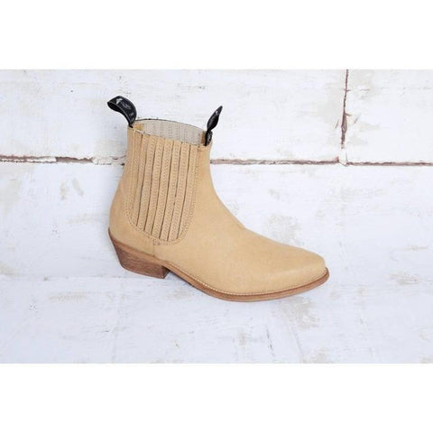 Good Guys don't Wear Leather - vegan cowboy boot - 'Duke' (sand vegan-suede) - Vegan Style