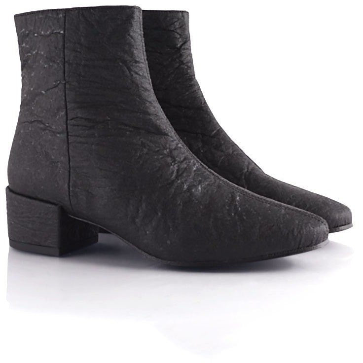 Pinatex ankle boot 'Annie' by Bourgeois Boheme - black