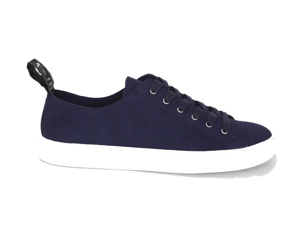 'Samo' vegan-suede sneaker by Good Guys don't Wear Leather - marine - Vegan Style