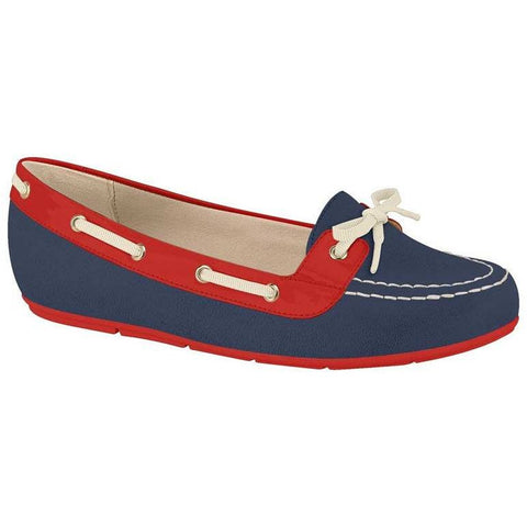 Moleca - navy and red boat shoes - vegan shoes