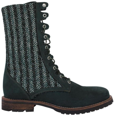 Glint Women's Lace-Up Boot (Green) by FAIR Shoes
