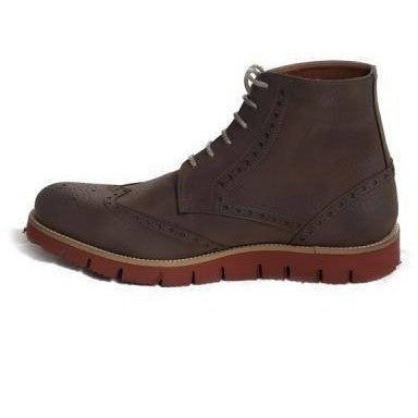 NAE - men's vegan boot - 'Lagos' (brown with red sole)