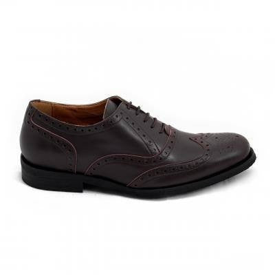 NAE 'Derby' vegan brogue shoe - brown