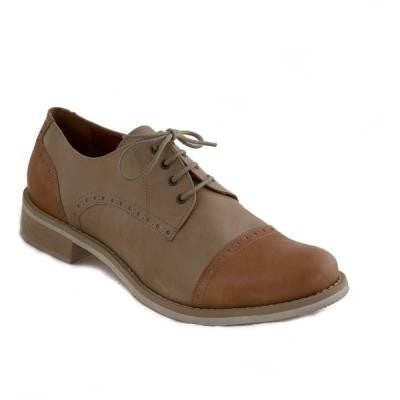 NAE - women's vegan oxfords - 'Diana' (tan/bone) - Vegan Style