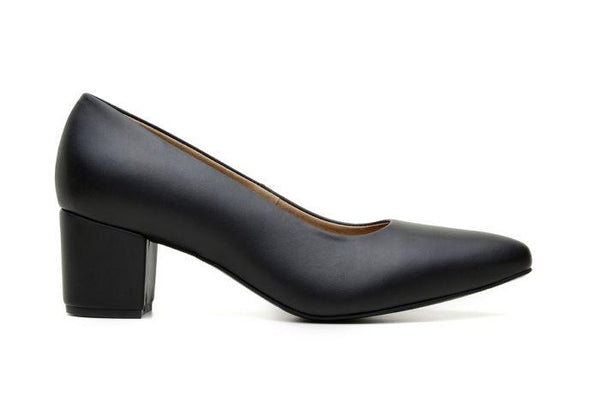 'Bianca' vegan women's heel by Ahimsa - black - Vegan Style
