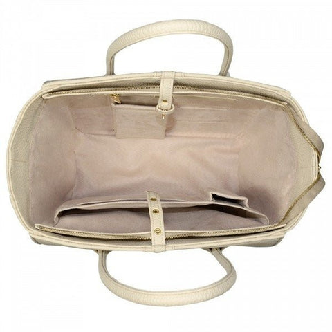 Alexandra K - vegan luxury bag - 1.5 toffee silver - Vegan Style