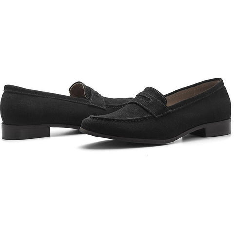 Ahimsa Shoes - Vegan Penny Loafer (Black) - Vegan Style