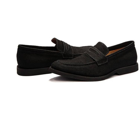 Ahimsa Shoes - Vegan Moc Slider (Black) - Vegan Style