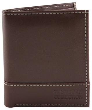 'Coleman' Bi-Fold Vegan Wallet by The Vegan Collection - Brown