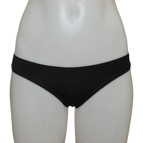 Women's Fair Trade Bikini Brief (Black) by Etiko - Vegan Style