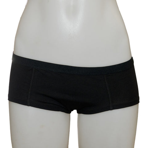 Women's Fair Trade Short Briefs (Black) by Etiko - Vegan Style